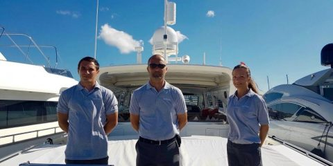 Captain Michael and crew Disco Volante Ibiza